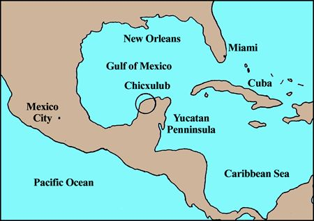 Question about a circle on the Yucatan Peninsula  Wrong Planet